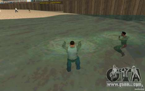 People are able to swim for GTA San Andreas