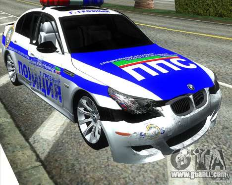 BMW M5 E60 Police for GTA San Andreas wheels