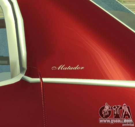 AMC Matador for GTA 4 inner view