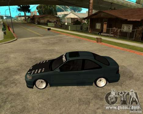 Honda Civic Coupe V-Tech for GTA San Andreas left view