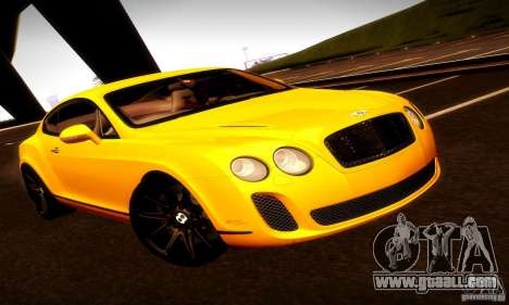 Bentley Continental Supersports for GTA San Andreas