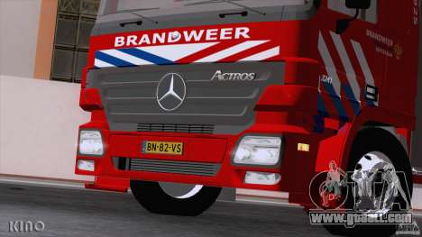 Mercedes-Benz Actros Fire Truck for GTA San Andreas inner view