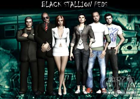 Black Stallion Peds for GTA San Andreas