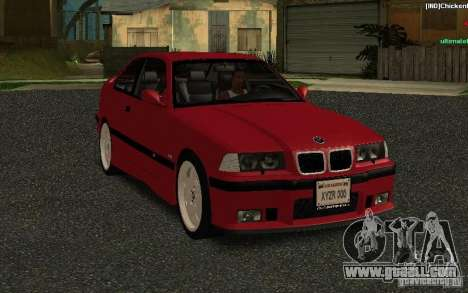 BMW E36 M3 1997 Coupe Forza for GTA San Andreas back view