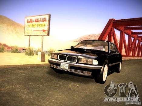 BMW 730i e38 1997 for GTA San Andreas right view