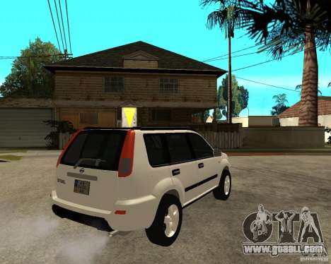 NISSAN X-TRAIL 2001 for GTA San Andreas back left view