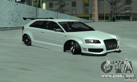 Audi S3 Full tunable for GTA San Andreas left view