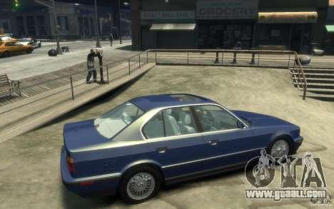 BMW 535i (E34) for GTA 4 right view