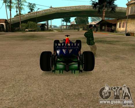Red Bull RB8 F1 2012 for GTA San Andreas back left view