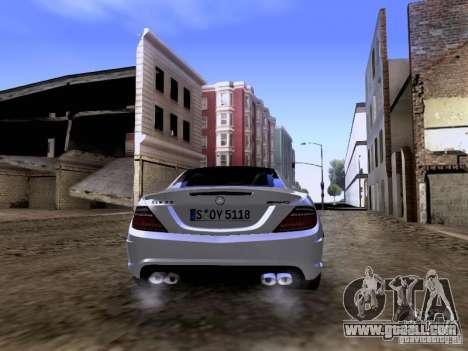Mercedes-Benz SLK55 AMG 2012 for GTA San Andreas side view