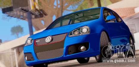 VW Golf V GTI 2006 for GTA San Andreas back left view