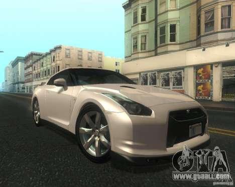 Nissan GTR R35 Spec-V 2010 Stock Wheels for GTA San Andreas inner view