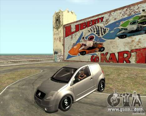 Citroen C2 workers car for GTA San Andreas right view