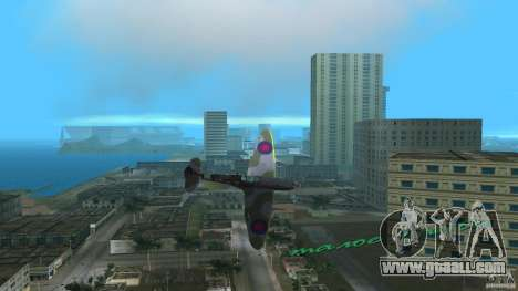 Spitfire Mk IX for GTA Vice City left view