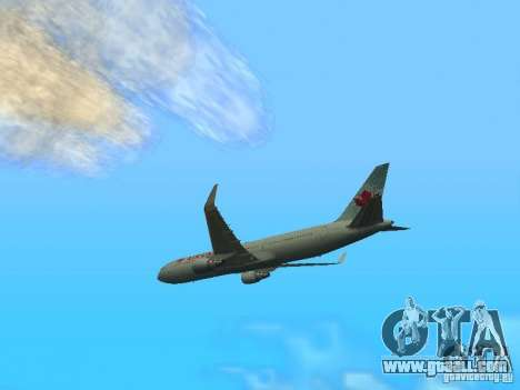 Boeing 767-300 Air Canada for GTA San Andreas back left view
