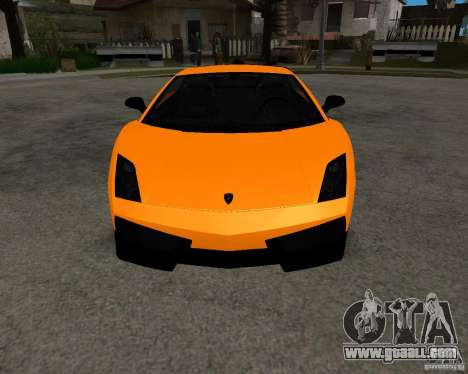 Lamborghini Gallardo LP570 Superleggera for GTA San Andreas back view