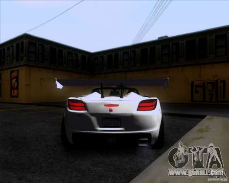 Saturn Sky Roadster for GTA San Andreas right view