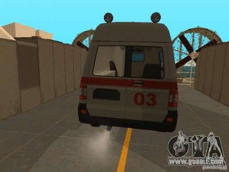UAZ Simba SC ambulance for GTA San Andreas back left view