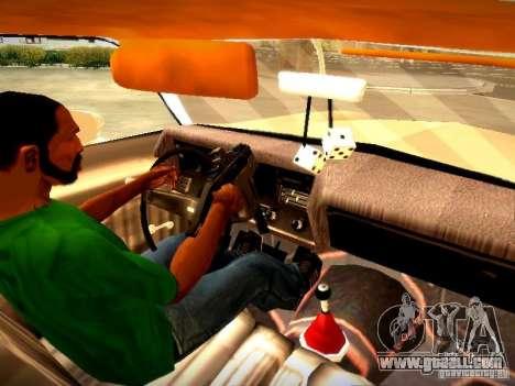 Chevrolet El Camino 1976 for GTA San Andreas inner view