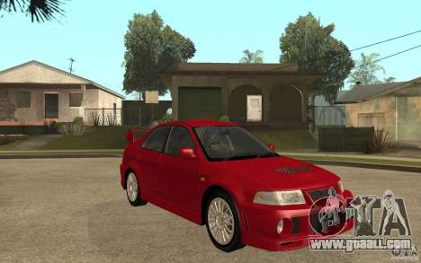 Mitsubishi Lancer Evolution VI GSR 1999 for GTA San Andreas back view
