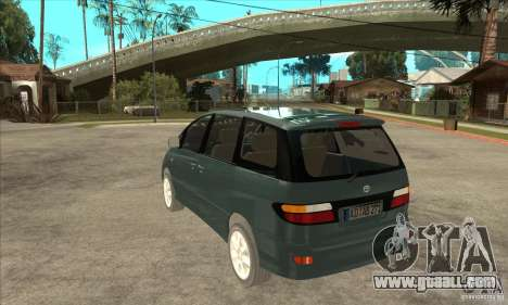 Toyota Estima for GTA San Andreas back left view