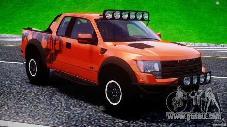 Ford F150 Racing Raptor XT 2011 for GTA 4 engine