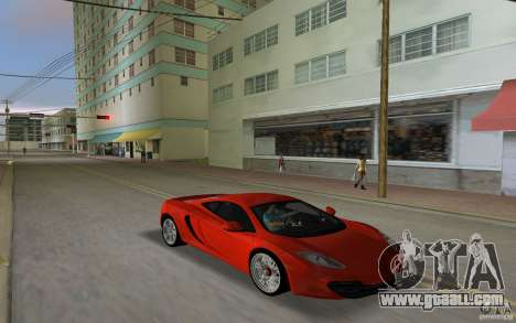 Mclaren MP4-12C for GTA Vice City left view