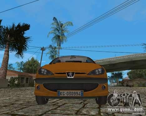 Peugeot 306 for GTA San Andreas inner view