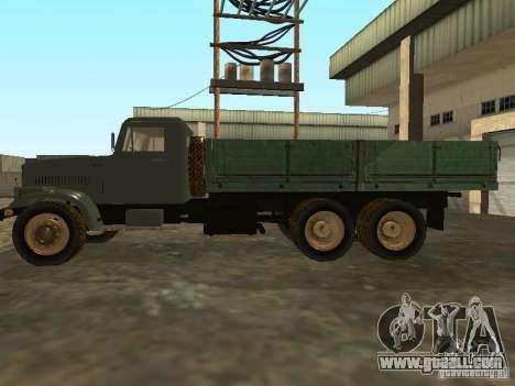 KrAZ truck flatbed v. 2 for GTA San Andreas left view