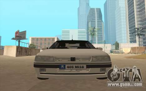 Peugeot 405 Mi16 for GTA San Andreas back left view