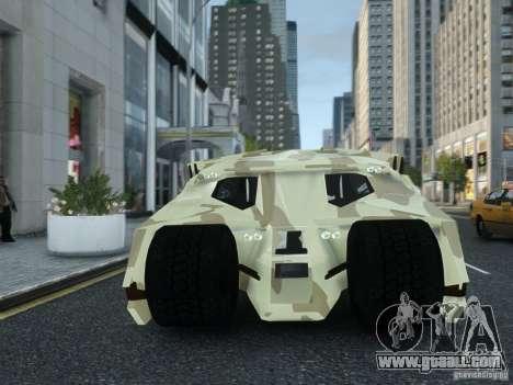 HQ Batman Tumbler for GTA 4 back view