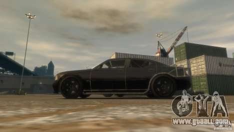 Dodge Charger Fast Five for GTA 4 back left view