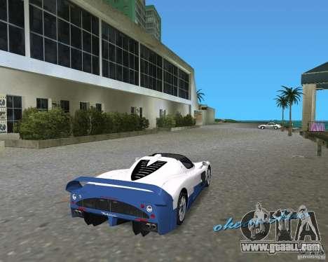Maserati MC12 for GTA Vice City back left view