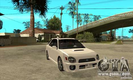 Subaru Impreza WRX Wagon 2002 for GTA San Andreas back view