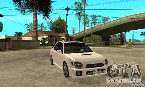 Subaru Impreza WRX Wagon 2002 for GTA San Andreas back view