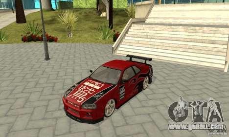 Nissan Skyline R-34 GTR for GTA San Andreas