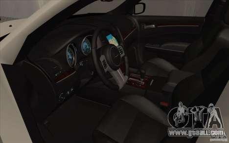 Chrysler 300C for GTA San Andreas back view