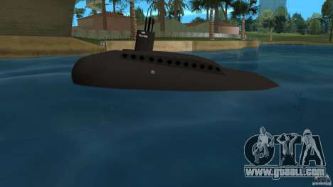 Vice City Submarine without face for GTA Vice City left view