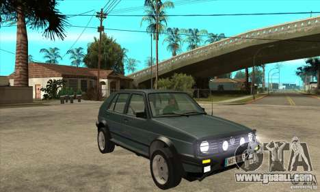 Volkswagen Golf Country MkII Syncro 4x4 1991 for GTA San Andreas back view