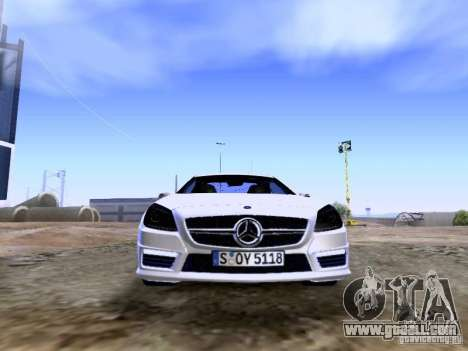Mercedes-Benz SLK55 AMG 2012 for GTA San Andreas upper view