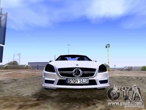 Mercedes-Benz SLK55 AMG 2012 for GTA San Andreas upper view