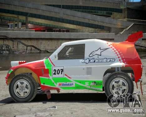 Mitsubishi Pajero Proto Dakar EK86 Vinyl 2 for GTA 4 back view