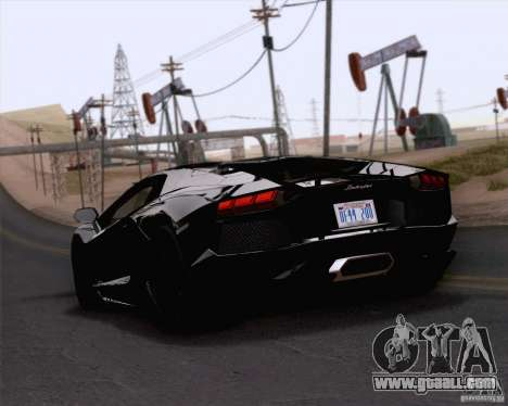 Lamborghini Aventador LP700-4 2011 for GTA San Andreas left view