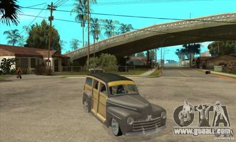 Ford Woody Custom 1946 for GTA San Andreas back view