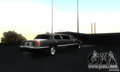 Lincoln Towncar limo 2003 for GTA San Andreas right view