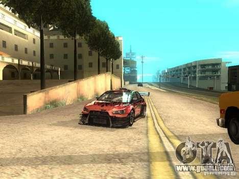 Mitsubishi Lancer Evo X Trailblazer Dirt2 for GTA San Andreas back view