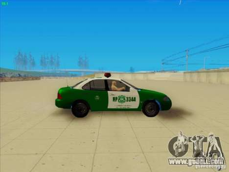 Nissan Sentra Carabineros De Chile for GTA San Andreas left view
