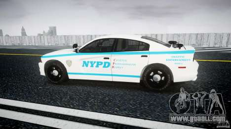 Dodge Charger NYPD 2012 [ELS] for GTA 4 left view