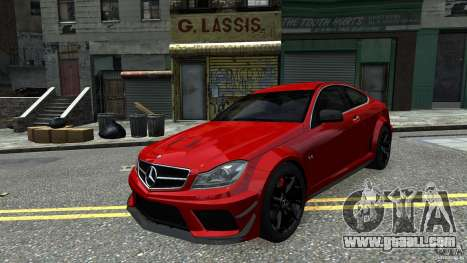 Mercedes Benz C63 AMG Black Series 2012 for GTA 4