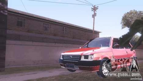Fiat Uno Mile Fire Original for GTA San Andreas back left view